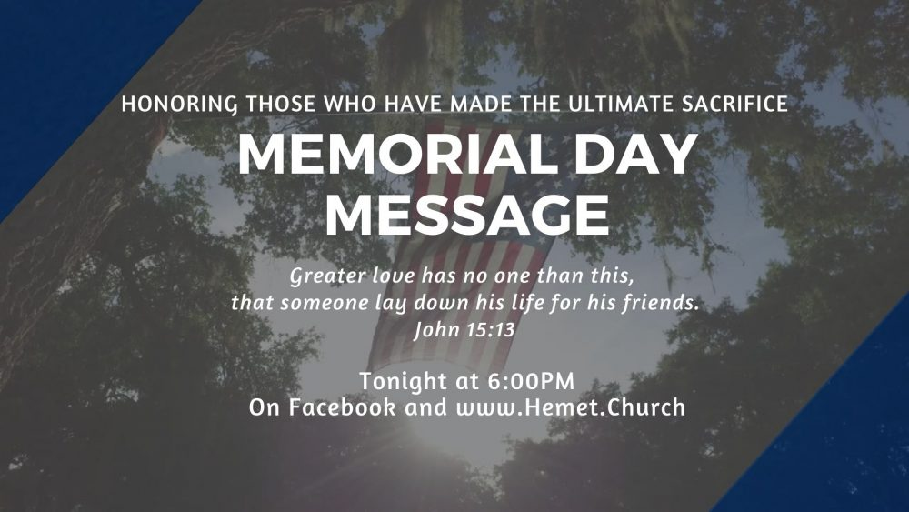 Memorial Day Message Image